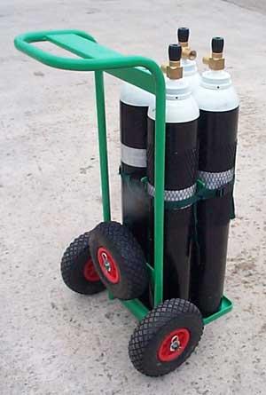 4 x Small Single Cylinder Trolley