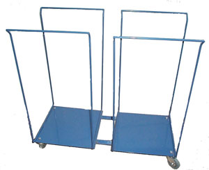 Double Laundry Bag Stand