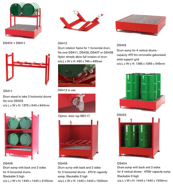 Stacking Drum Pallet Racking System