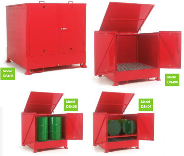 Enclosed Drum Sump Storage System