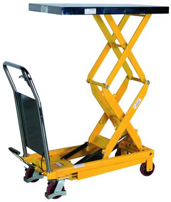 350 kg Double Scissor Lifting Table With Foot Pump
